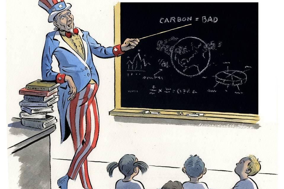 Schoolroom Climate Change Indoctrination - Svært effektivt når det kombineres med massive ensidige hjernevaskekampanjer i media.