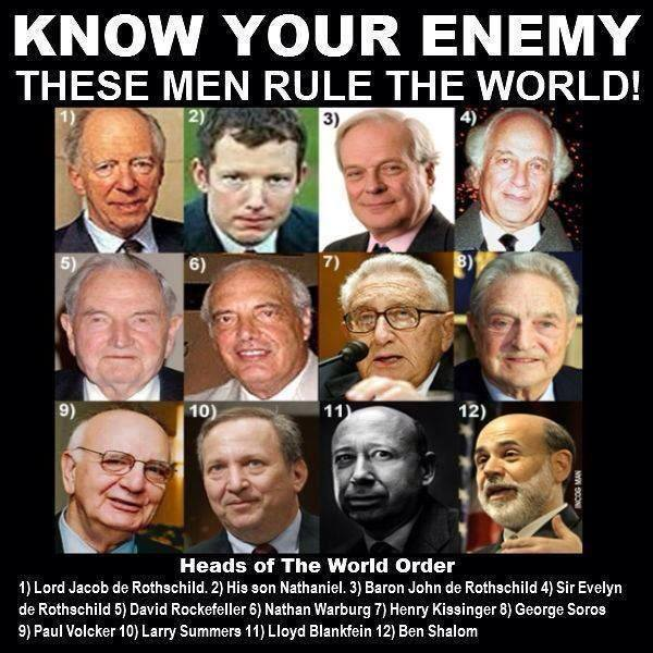 Fem av de rikeste og mest maktfulle parasitter i verden tilhører familiedynastiene Rothschild og Rockefeller. Hvor mye samfunnsmakt har de, og hvorfor hører vi nesten aldri om dem?