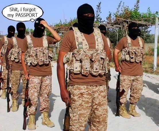 Hvor sannsynlig er det at terrorister tar med seg passet når de skal ut på tokt?