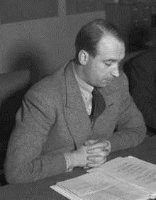 Jens Chr. Hauge som forsvarsminister i 1947