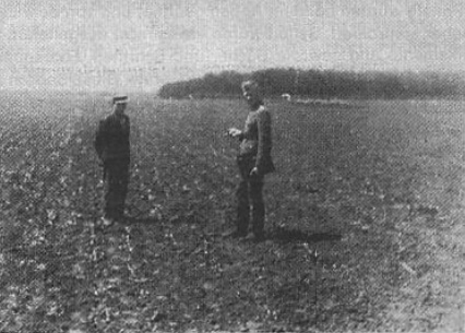 Russian agronomist (on left) and the author.