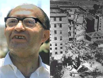 Begin the beast; terrorist leader of the Irgun; mastermind of the King David Hotel bombing in 1946 and other atrocities; Prime Minister of Israel. A complete animal.