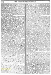 "The London Saturday Journal, 20. juli 1839 - ""6 millioner jøder.."""
