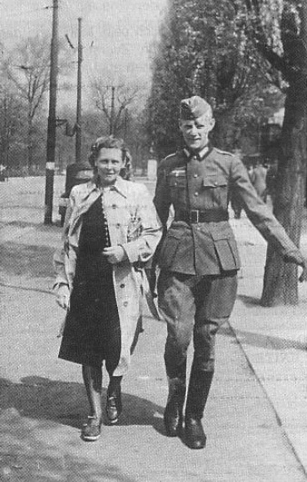 Author and wife on leave in the East. 1944.