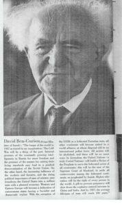 David Ben Gurion, 1962