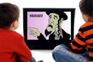 """Unge europeiske barn av kaukasoid herkomst blir systemisk indoktrinert og hjernevasket til å leve med skyldfølelse for et """"holocaust på den jødiske rase"""" som aldri skjedde slik det har blitt fremstillt, altså en løgn!"""