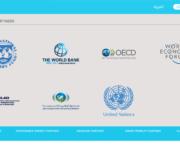 Partners: IMF, Verdensbanken, CNN, FN, World Economic Forum, OECD etc.