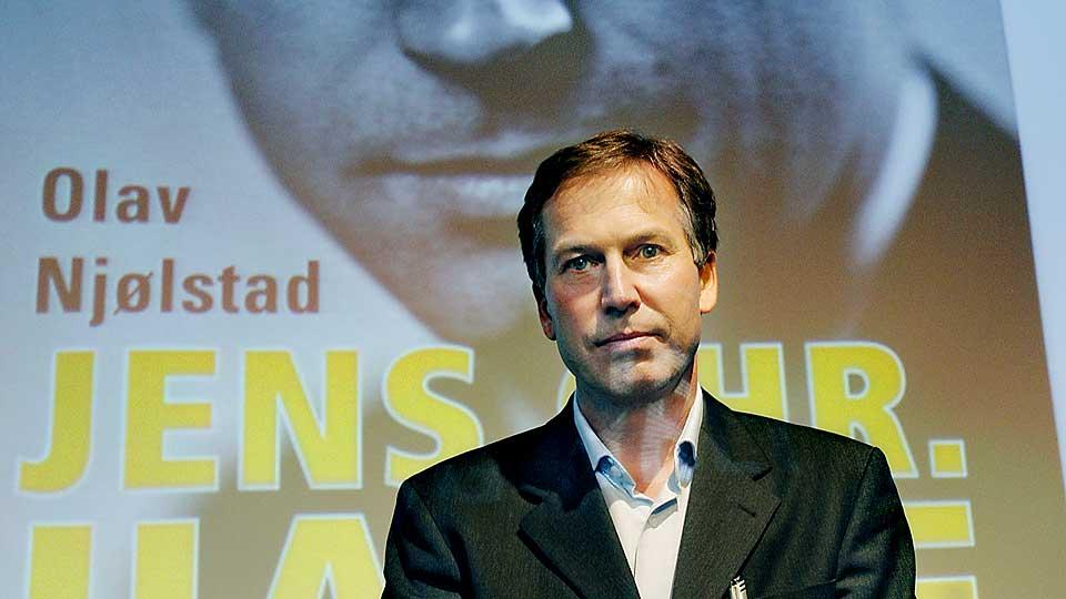 Olav Njølstad fra lanseringen i 2008 av hans Hauge biografi.