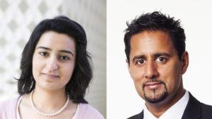 Bushra Ishaq og Abid Raja